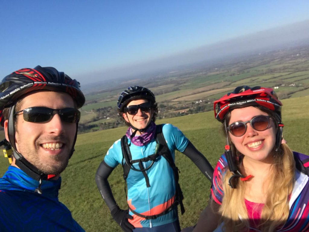 Selfie at the to of Devil's Dyke, South Downs Way