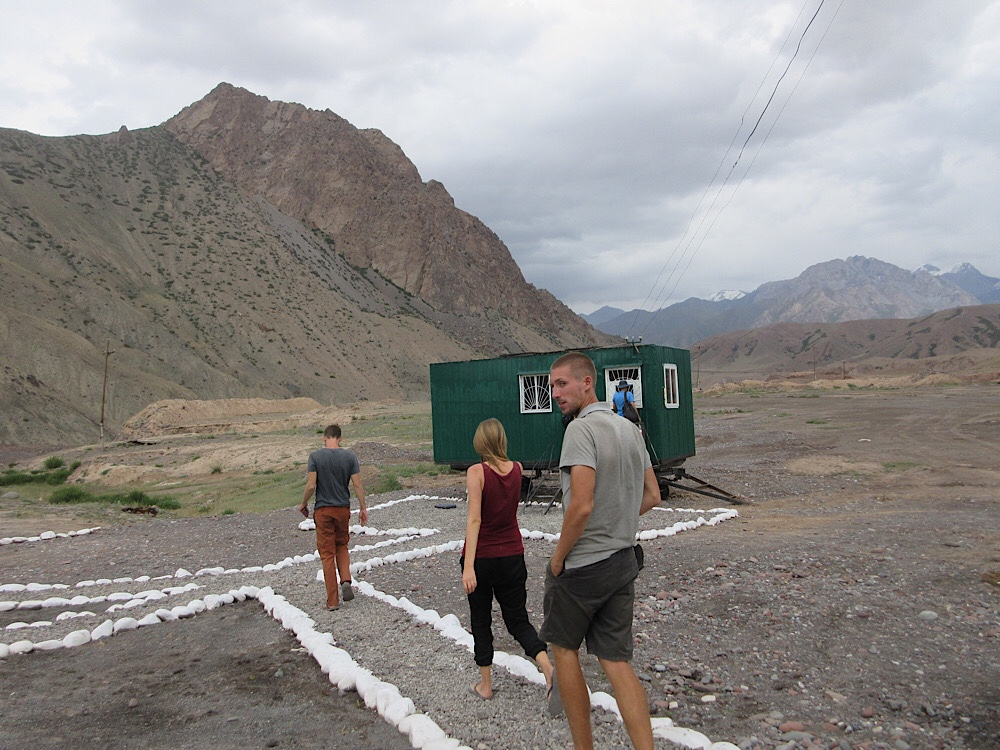 What a passport office on the Kyrgyz side of of the border, 2017